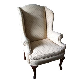 Antique Queen Anne Wingback Chair