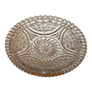 Cut Glass Round Cake Plate