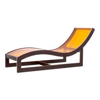 Orange Acrylic Lounge Chaise