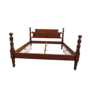 Cannonball & Feather Carved King Size Bed