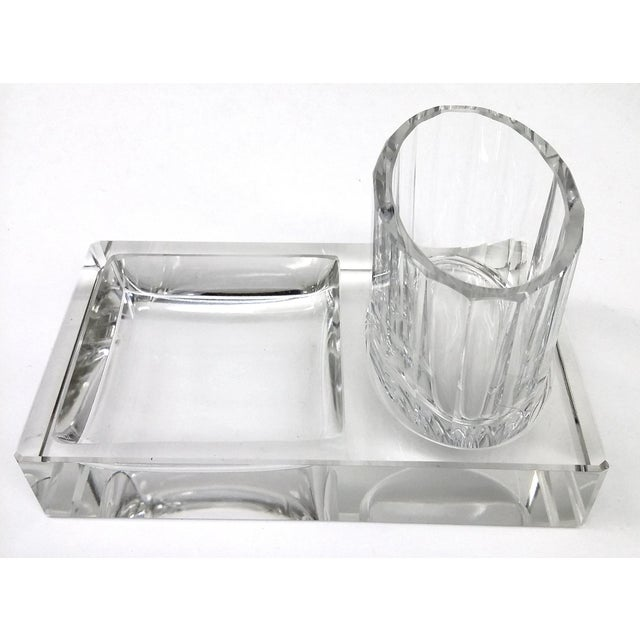 Crystal Art Deco Cigarette Ashtray - 2 Pieces - Image 2 of 11