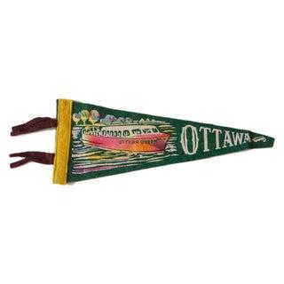 Ottawa Queen Vintage Felt Flag
