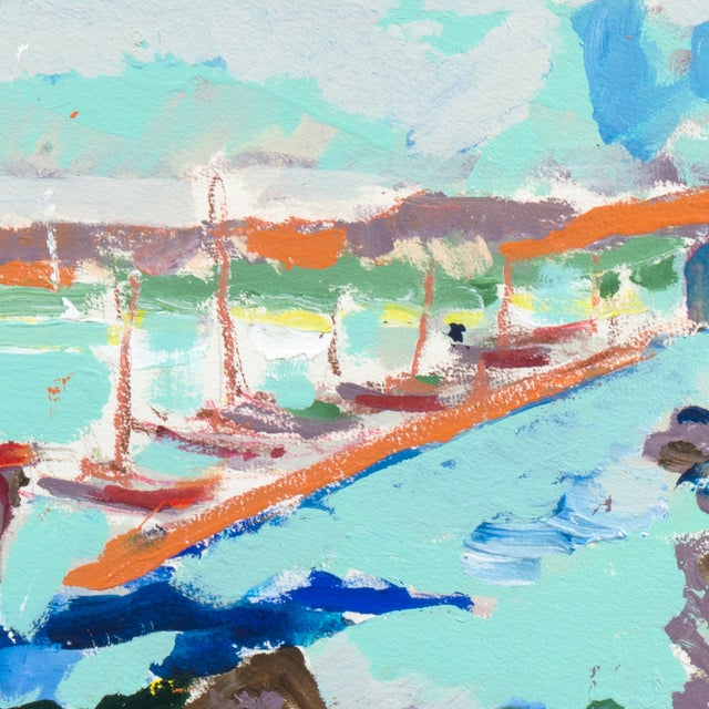 Monterey Harbor Painting by Robert Canete - Image 4 of 7