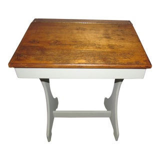 Vintage Hinged School Desk