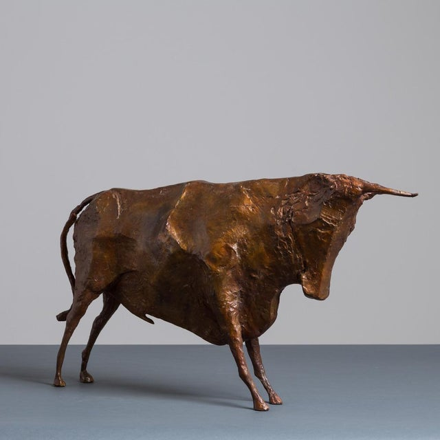 Sculpture of a Standing Bull by Christian Maas - Image 2 of 7