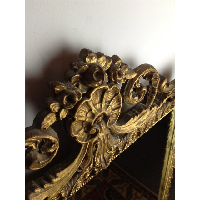 Antique Gilded Ornate Wall Mirror - Image 5 of 9