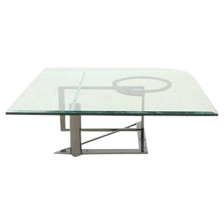 Modernist Glass & Chrome Coffee Table