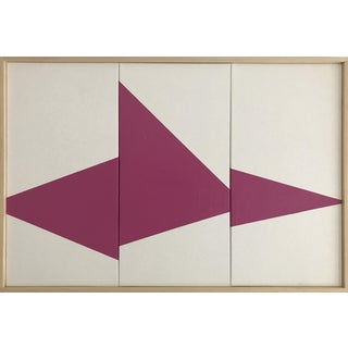 """Magenta on Point Triptych - Jet0453"" Original Acrylic Painting by Jason Trotter"