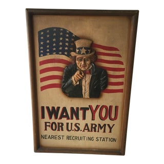 Rare Vintage World War II Army Recruitment Sign