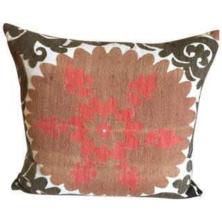 Vintage Gulkurpa Suzani Floor Pillow