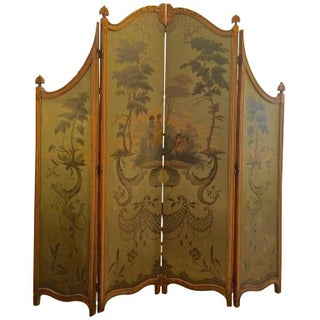 19th Century French Four-Panel Screen