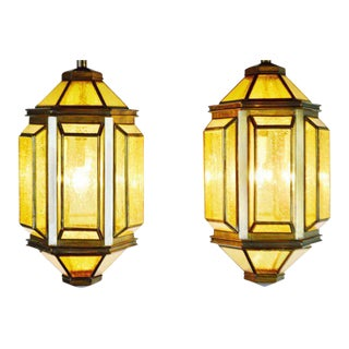 Mid-Century Ceiling Pendant Lamps - A Pair