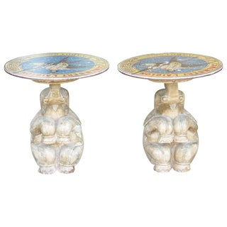 Elephant Side Tables - A Pair