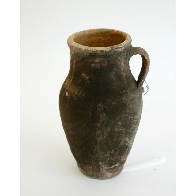 Antique Turkish Ochre Oil Pot - Image 2 of 4