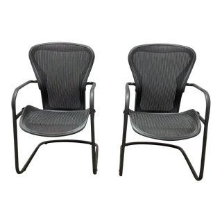 Herman Miller Aeron Side Chairs- A Pair