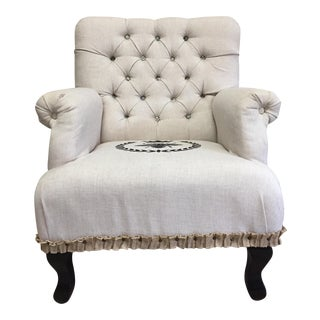 Linen Upholstered Arm Chair