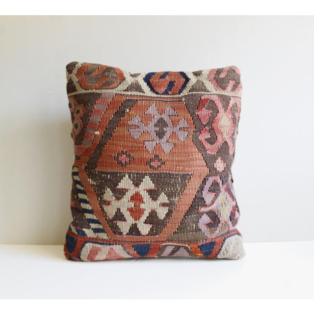 Vintage Turkish Kilim Pillow - Image 3 of 5