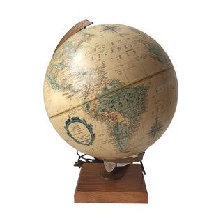 1970 Topographical Light Up Globe