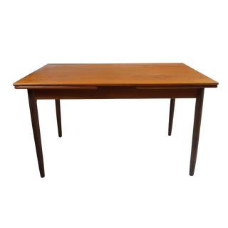 Danish Teak Dining Table with Leaves