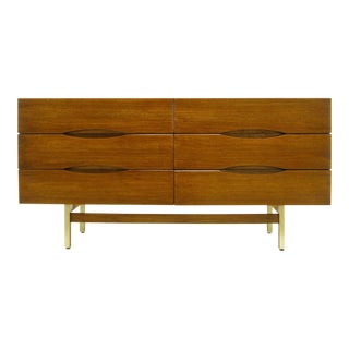 American of Martinsville Mahogany Dresser with Recessed Elliptical Pulls