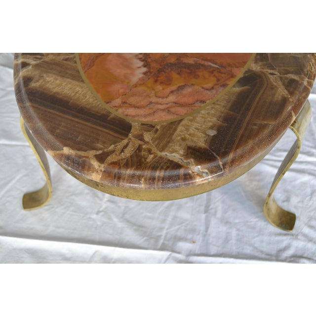 Image of 1970s Vintage Mueller Faux Marble Oval Table