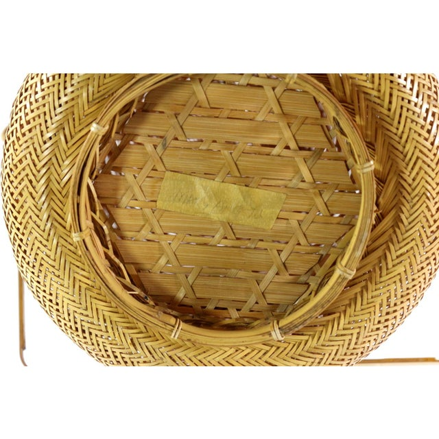 1930s Finely Woven Vintage Japanese Basket - Image 4 of 5