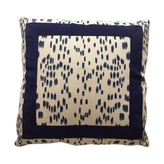 Brunschwig and Fil Navy Spotted Pillows - Set of 3