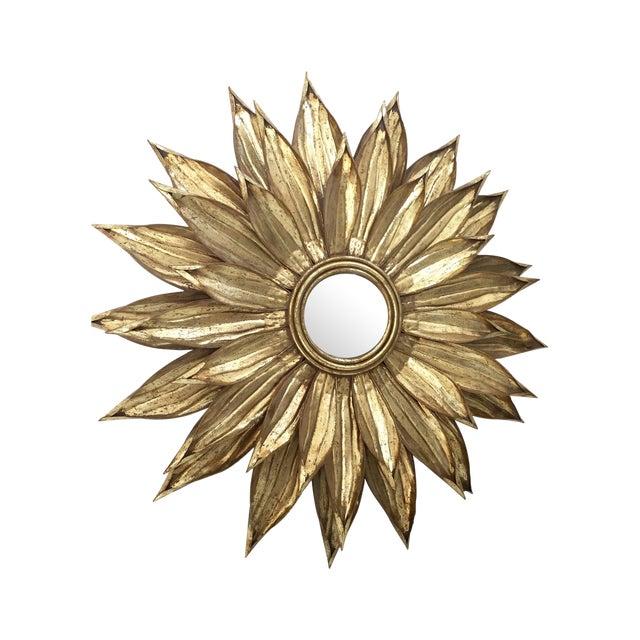 Golden Flower Petals Mirror - Image 1 of 3