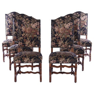 French Upholstered Dining Chairs - Set of 6