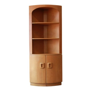 Heywood Wakefield Mid-Century Modern Corner Cabinet in Wheat