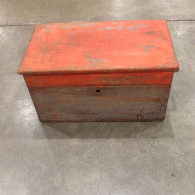 Rustic Antique Orange Wash Carpenter's Box - Image 2 of 5