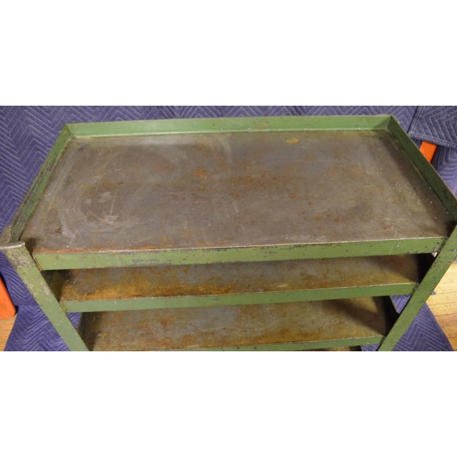 Industrial Steel Cart with Four Shelves - Image 4 of 8