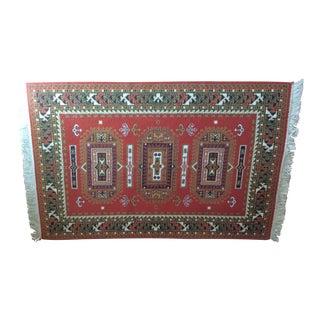 Mayan Design Wool Rug - 3′9″ × 6′1″