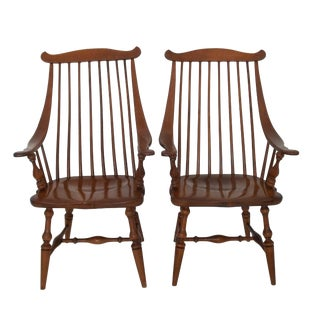 Early Heywood Wakefield Arm Chairs - Pair