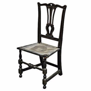 1780 Antique Chippendale Painted Side Chair