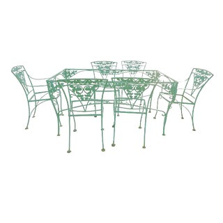 Woodard Garden Wrought Iron Dining Set