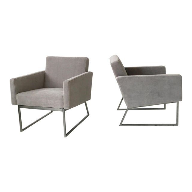 Milo Baughman Lounge Chairs- A Pair - Image 1 of 9