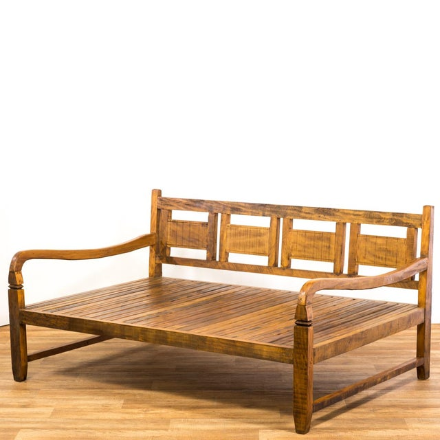 Handmade Solid Wood Island Units: Handmade Reclaimed Solid Wood Daybed