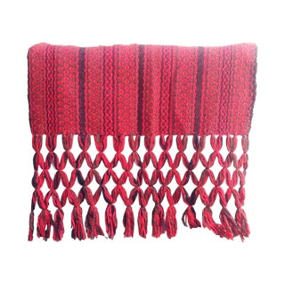 Vintage Red Woven Throw