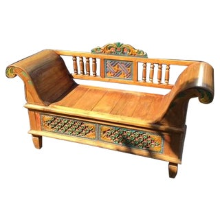 Indonesian Carved Bench