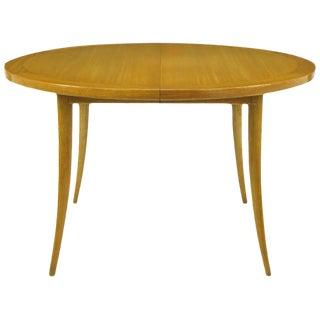 Harvey Probber Bleached Mahogany Saber Leg Dining Table