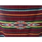 Image of Vintage Mexican Serape Blanket