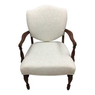White Shield Back Chair