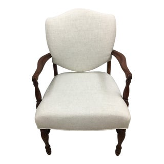 White Shield Back Chair