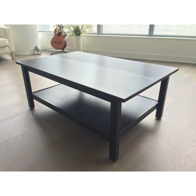 Image of Black Wood Coffee Table