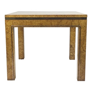 Mastercraft Burlwood & Brass Side Table