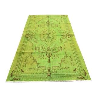 Vintage Boho Tribal Handmade Overdyed Wool Area Carpet - 4′7″ × 8′6″