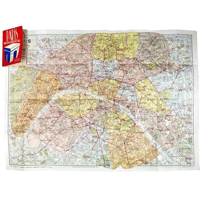 Vintage Guy Paris Monument Map - Image 6 of 6