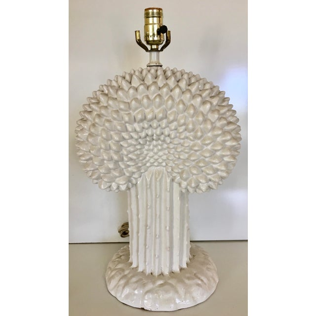 Vintage Italian Tree of Life Ceramic Table Lamp - Image 2 of 5