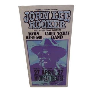 Vintage Concert Poster, John Lee Hooker